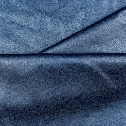 Levi, Lederimitat genarbt, stahlblau-metallic