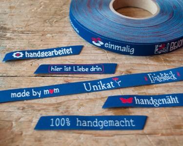 Unikat, blau, Webband