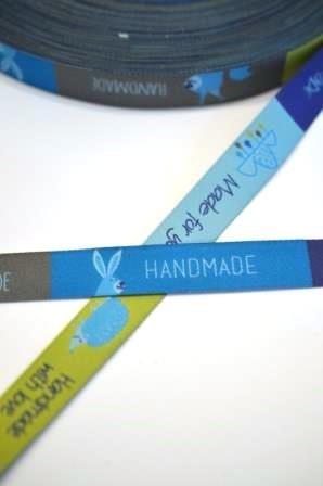 Handmade Zauberwald, grün/blau, Webband
