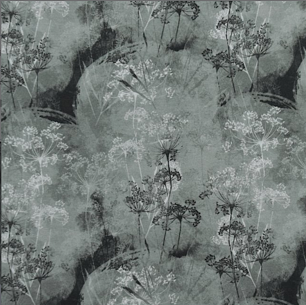 Digitaldruck Wild Flowers grau, Viskosejersey