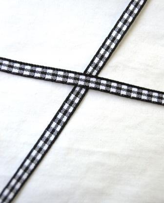 Band, schwarz kariert, 5 mm