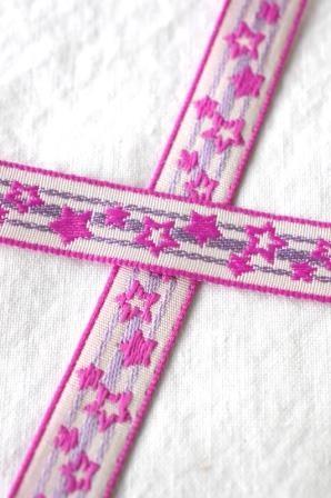 Sternchen, pink, Webband