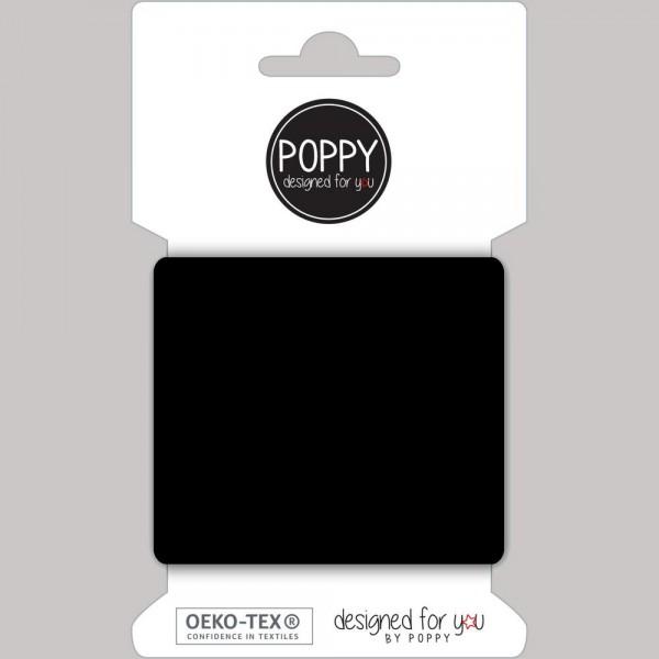 Poppy, Strickbündchen schwarz, 135 cm