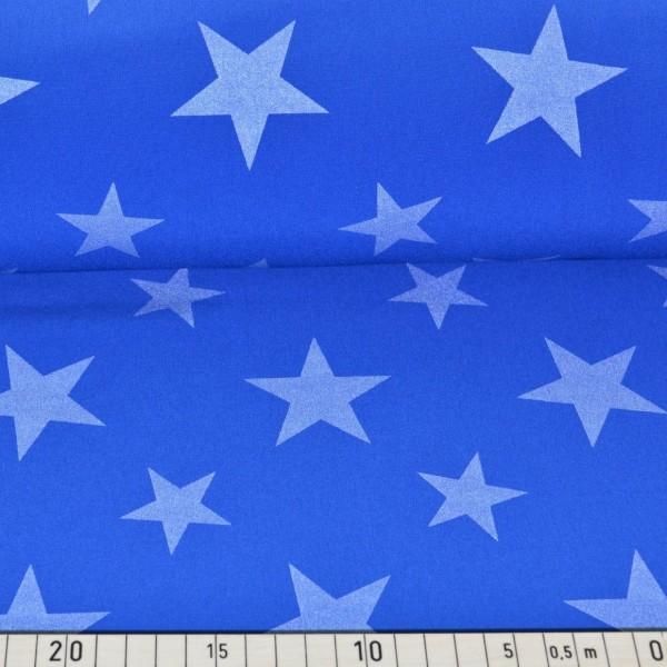 Reflektierender Softshell, Sterne auf royalblau