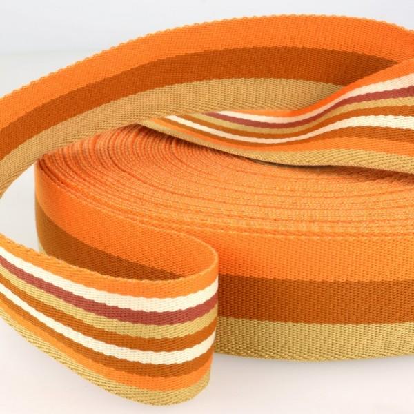 Gurtband, beidseitig gestreift, orange