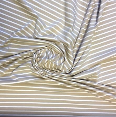 AUSVERKAUFT! Alberto Bio-Ringeljersey, beige, *Letztes Stück ca. 150 cm*