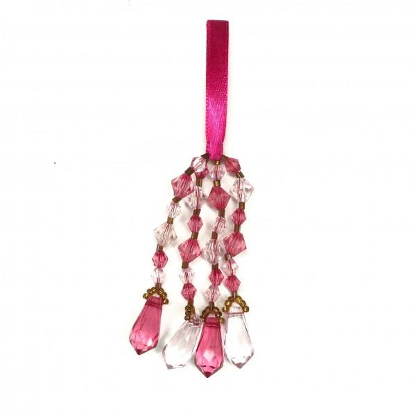 Perlenanhänger, pink