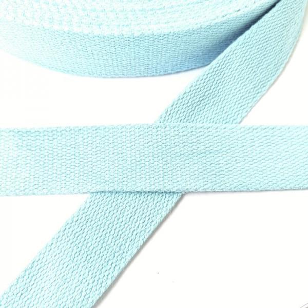 Baumwollgurtband, hellblau, 2,5 cm
