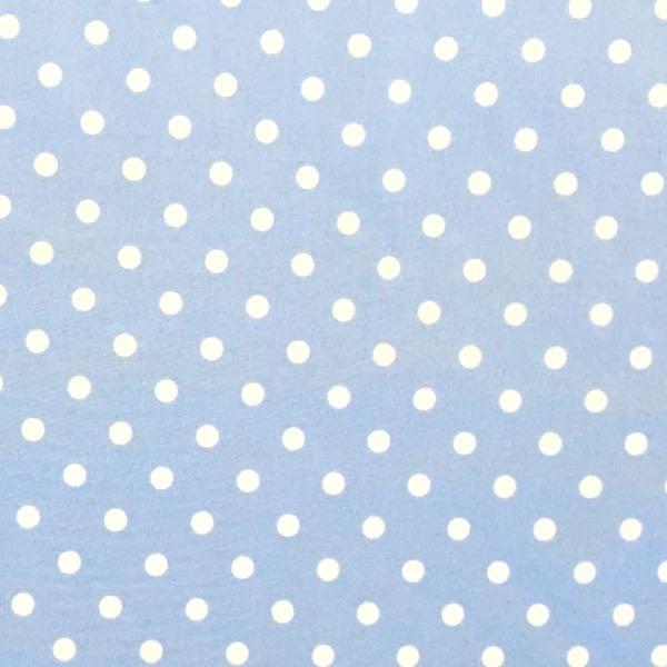 Lili Punkte mittel, hellblau, Webstoff, waschbar bei 60°
