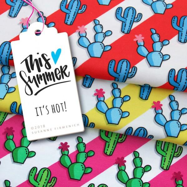 This Summer, It's Hot Kaktus pink, Bio-Jersey