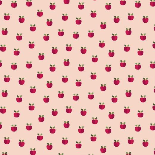Äpfelchen rosa, Baumwoll-Popeline, waschbar bei 60°