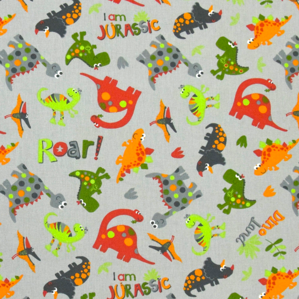 Jurassic grau, Baumwollstoff