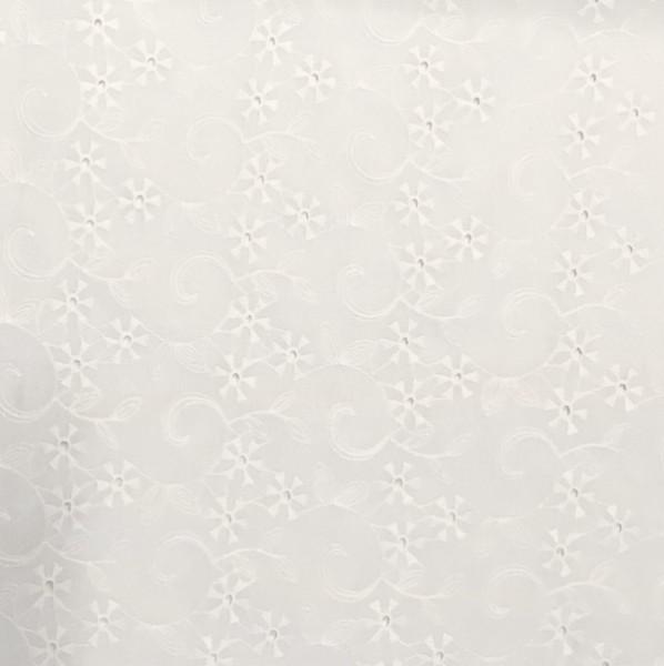 Baumwollspitze Blumenranke, weiss