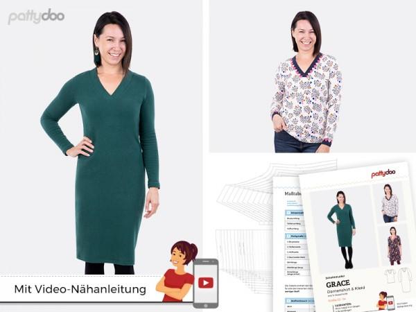 Grace Damen-Shirt und Kleid, pattydoo-Schnittmuster