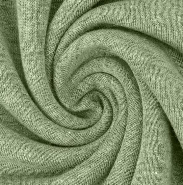 Kuschelsweat, grün-meliert