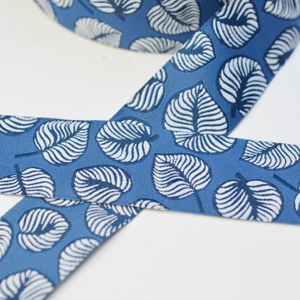 Sew & More, Blätter blau, Webband