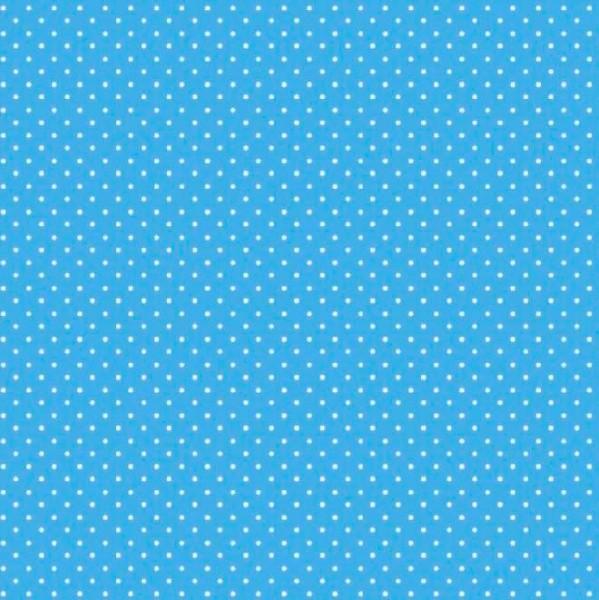 Lili Punkte klein türkis, Webstoff, waschbar bei 60°