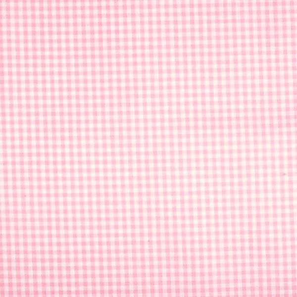 Vichykaro, klein, hellrosa-weiß kariert, waschbar bei 60°