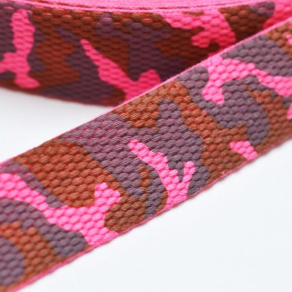 Gurtband Camouflage, pink