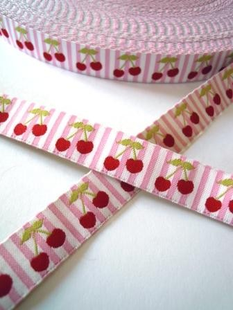 Kirschen, rosa, Webband
