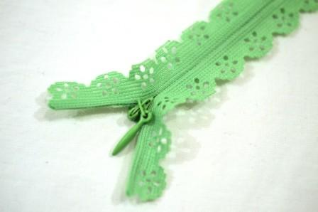 Zierreißverschluss, hellgrün *SALE*
