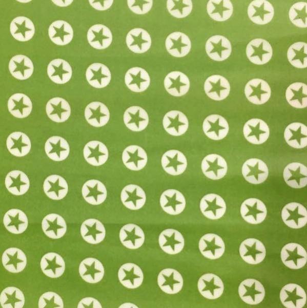 Laminat/Wachstuch, Sterne im Kreis grün