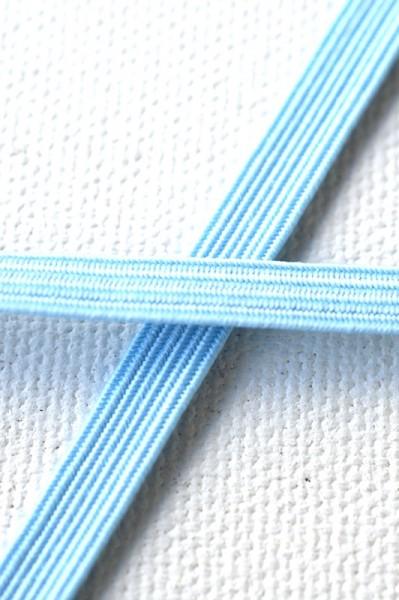Flachgummi, hellblau, 6,5 mm