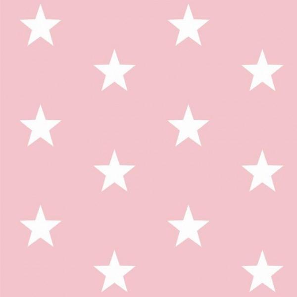 Lili Big Star weiß auf rosa, Webstoff