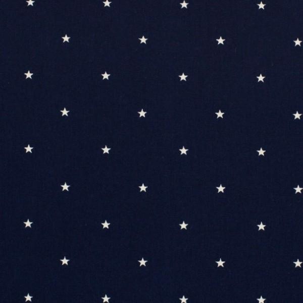 Maxi, kleine Sterne, weiß auf dunkelblau, Webstoff