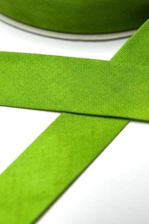 Tie Dye Schrägband, 20 mm, grün