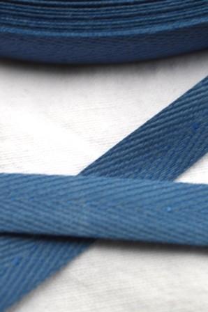Köperband, 10 mm, helles jeansblau
