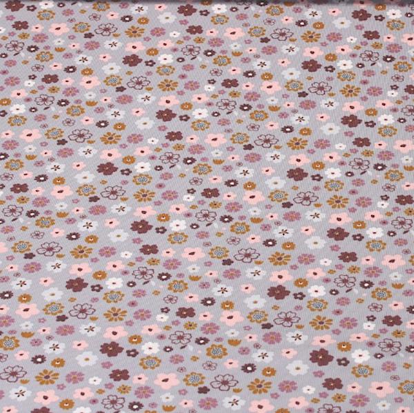 Kleine Blumen grau, Jersey