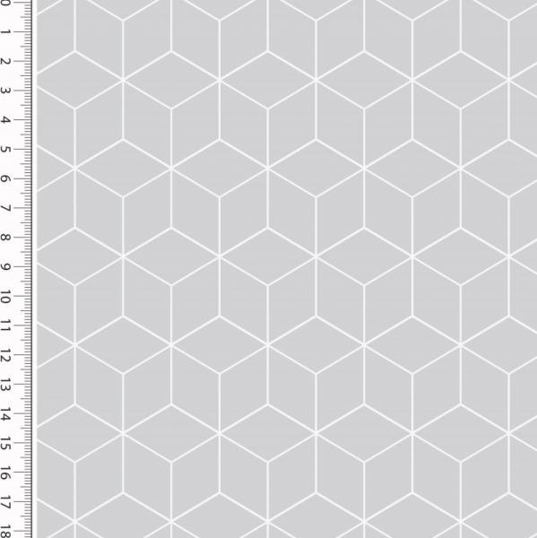 Cubes hellgrau, Baumwollstoff
