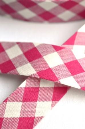 Westfalen Schrägband, großes Karo, pink