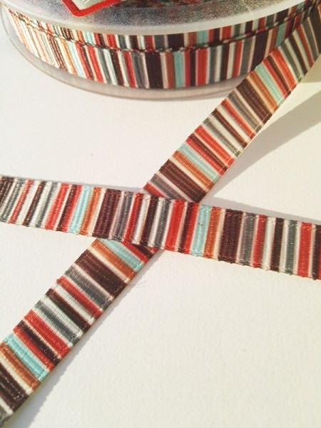 Multicolor, blau-braun, Ripsband
