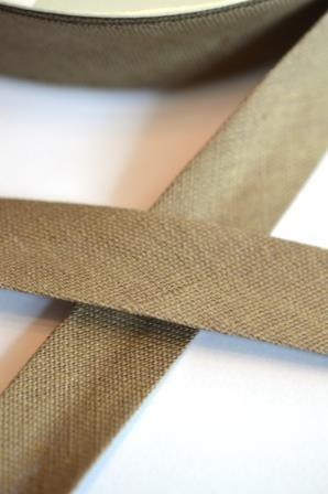 Leinen-Schrägbänder, dunkles beige