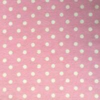 Astrid kleine Punkte weiß auf rosa, Flanell