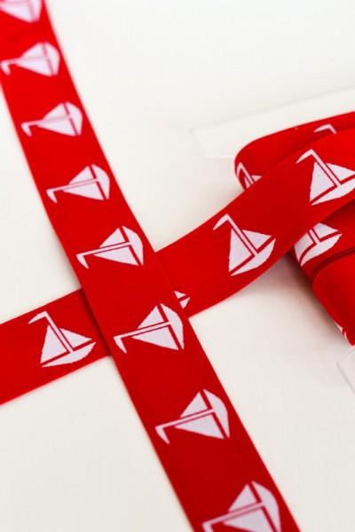 Gummiband breit, maritim rot