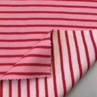 Alberto Bio-Doubleface Strickstoff Streifen rosa/rot, *SALE*