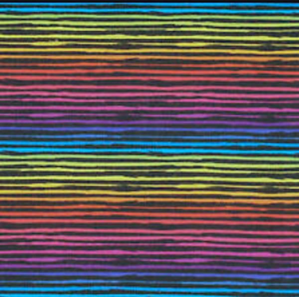 Regenbogenstreifen auf schwarz, Kuschelsweat