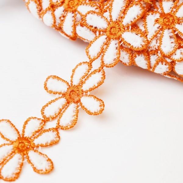 Zweifarbige Blumenspitze, orange