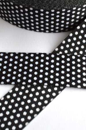 Gurtband, Punkte schwarz
