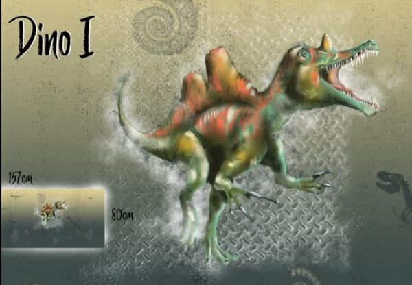 lillestoff, Dino 1, Jersey Paneel, *Letztes Stück*