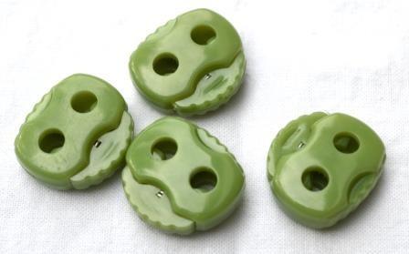 Kordelstopper, 2 löchrig, oliv