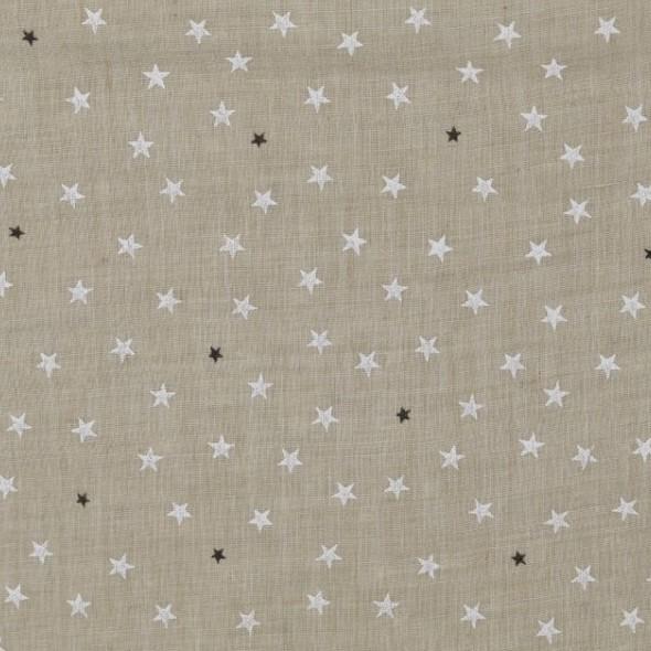 Lucy, Batist mit kleinen Sternchen, beige
