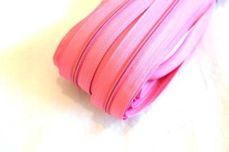Endlosreißverschluss, rosa