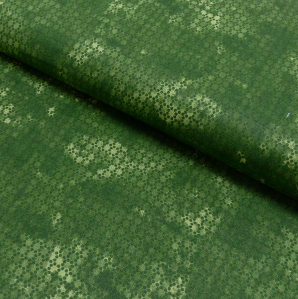 Baumwollstoff, Camouflage mit Stanzmuster grün