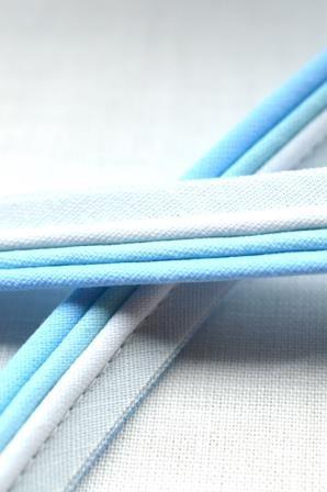 Paspelband, dreifärbig, hellblau