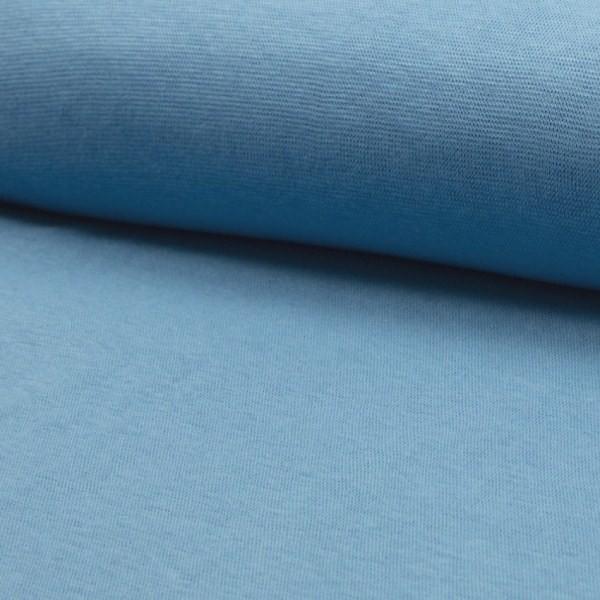 Glattes Bündchen helles jeansblau