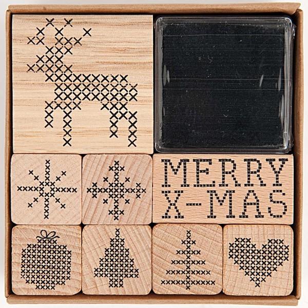 Stempelset, Weihnachten Kreuzstich